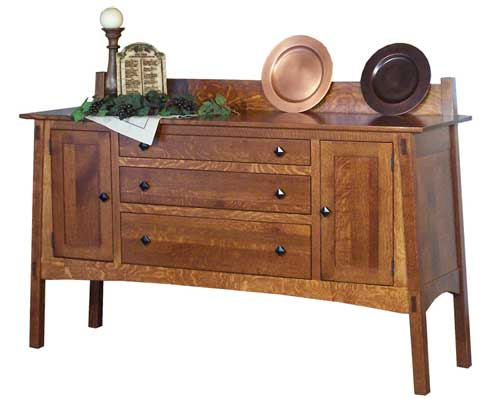 Illinois Amish Furniture - Hutches, Buffets and Sideboards