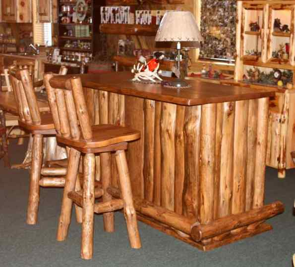 Fis Amish Rusic Log Bar Rustic Log Cabin Style