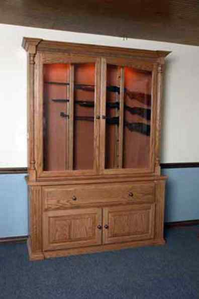 Horizontal Gun Cabinet Display