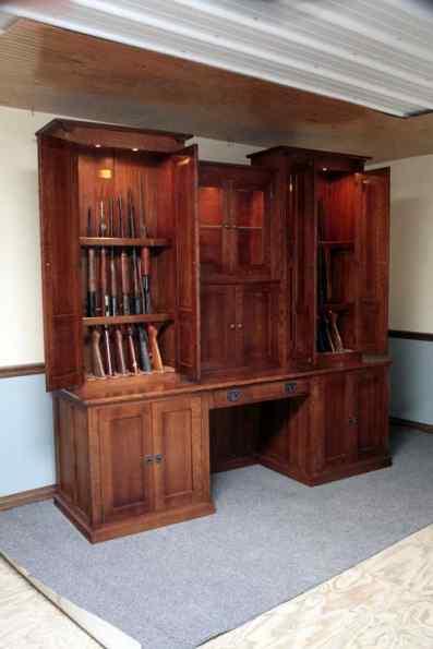 Beau Gun Cabinet Desk Combo