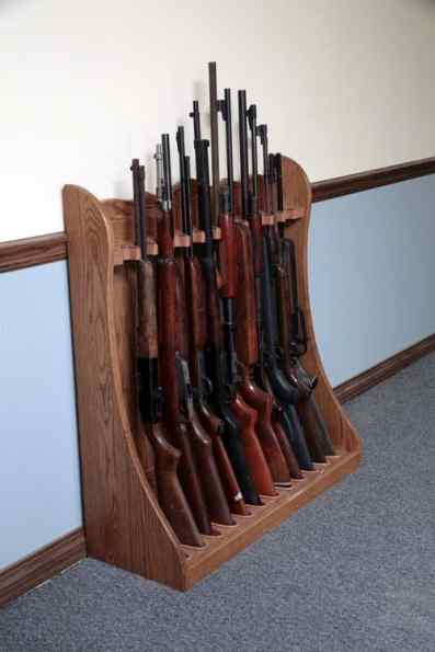 Diy Wood Projects For Beginners Standing Rifle Rack Plans