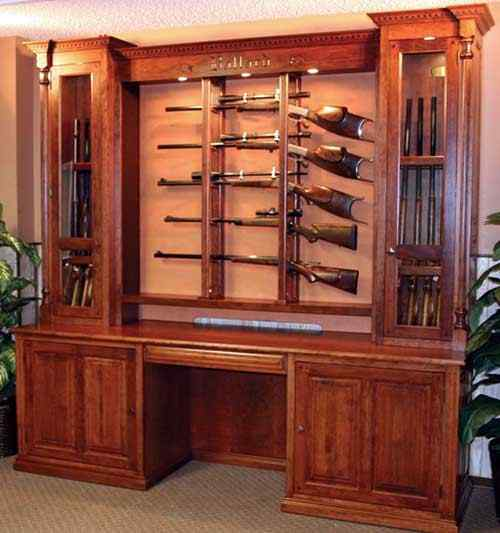 case_custom_10_15gun | Gun Cabinetry - Long gun, pistol, wall ...