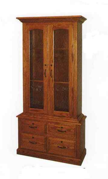 MW-Amish-custom-Gun-Cabinet-2-door-4-drawer | Gun ...