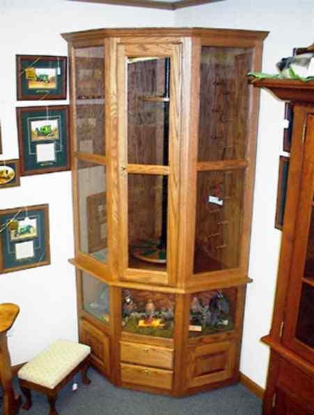 corner bird gun cabinet | Gun Cabinetry - Long gun, pistol ...
